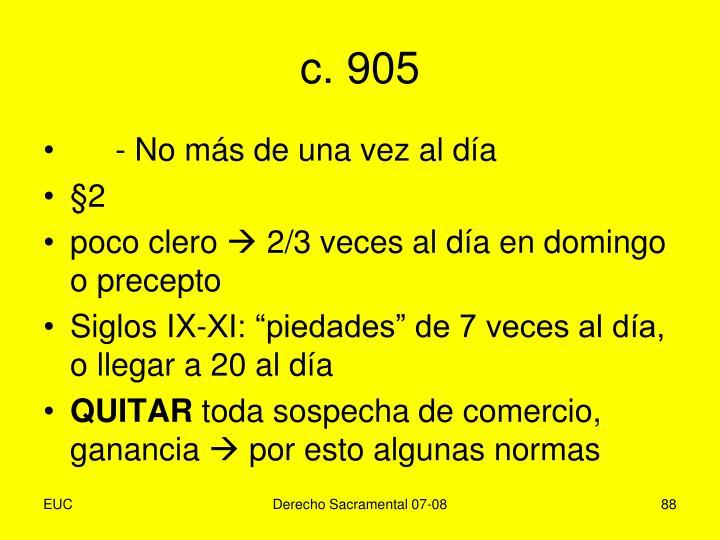 c. 905