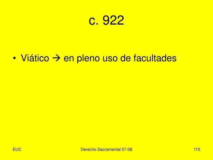 c. 922