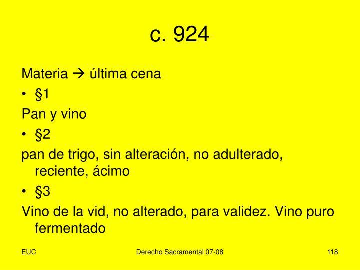 c. 924