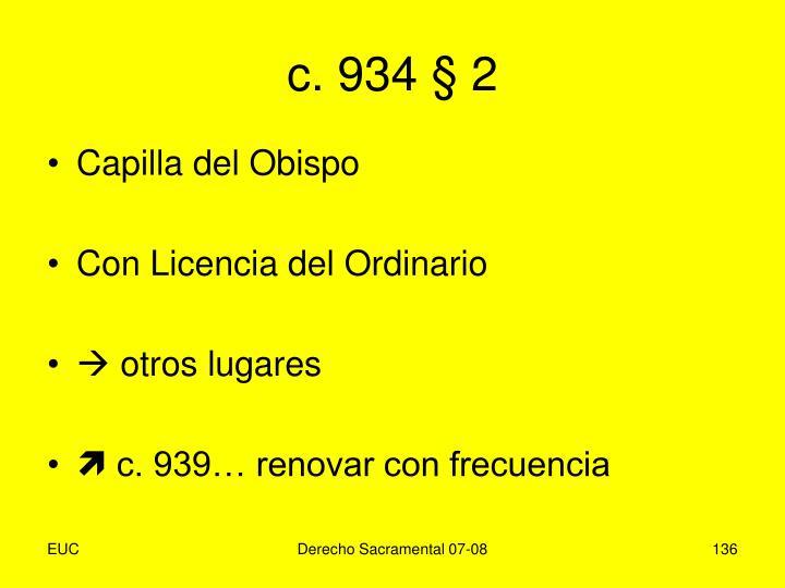 c. 934 § 2
