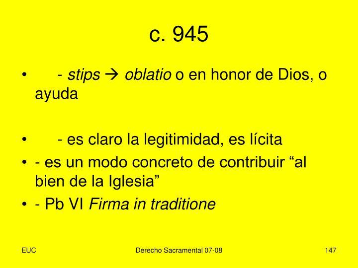 c. 945