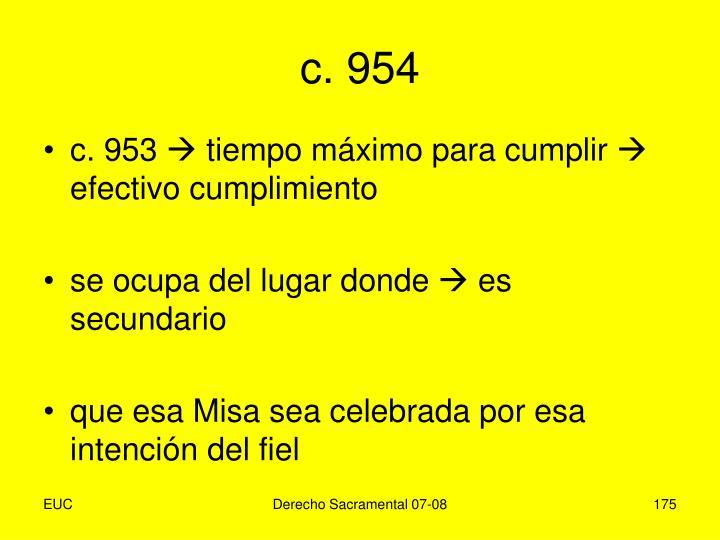 c. 954