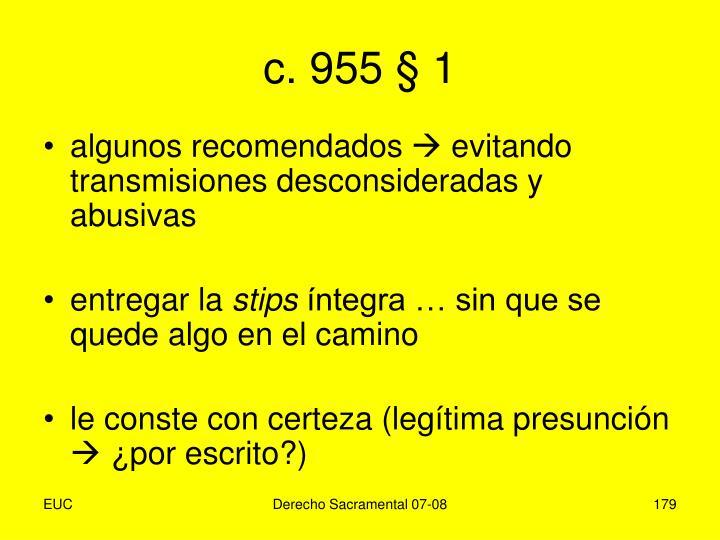 c. 955 § 1