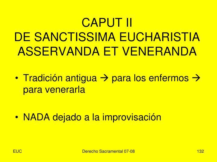 CAPUT II