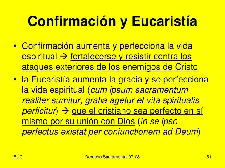 Confirmación y Eucaristía