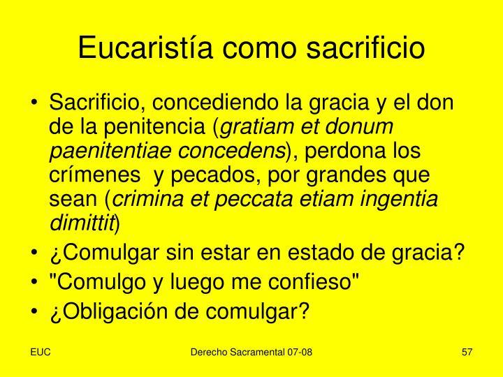 Eucaristía como sacrificio
