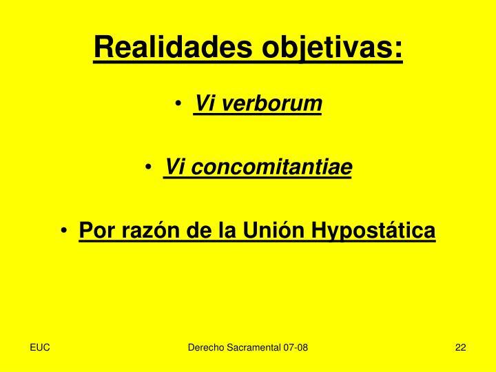 Realidades objetivas: