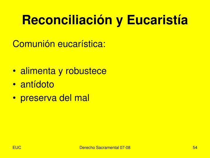 Reconciliación y Eucaristía