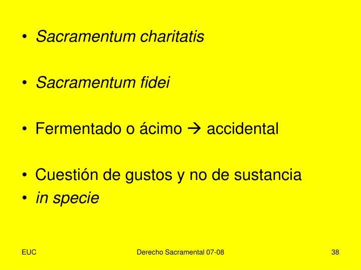 Sacramentum charitatis
