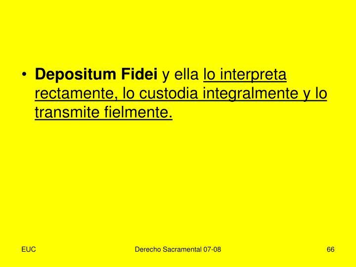 Depositum Fidei