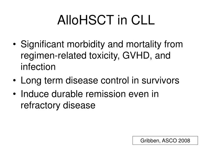 AlloHSCT in CLL