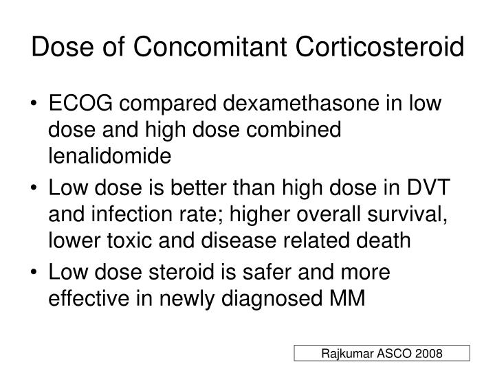Dose of Concomitant Corticosteroid