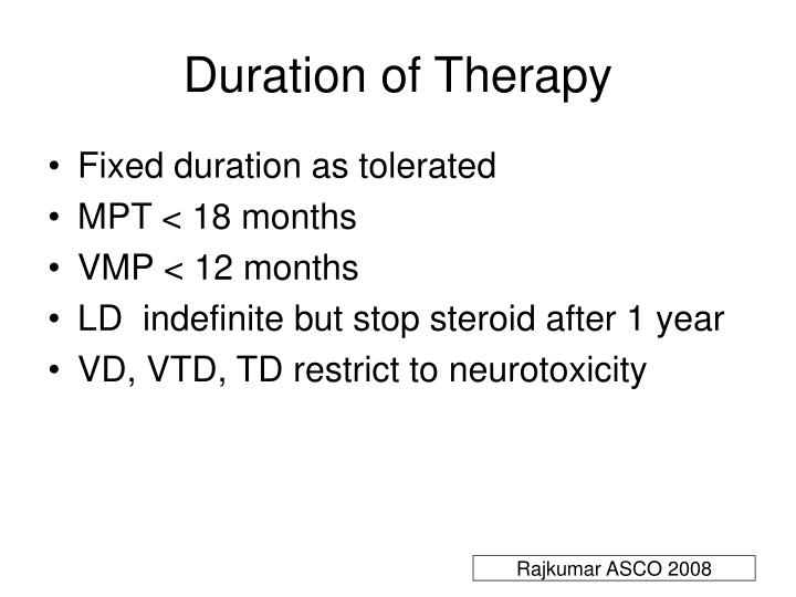 Duration of Therapy