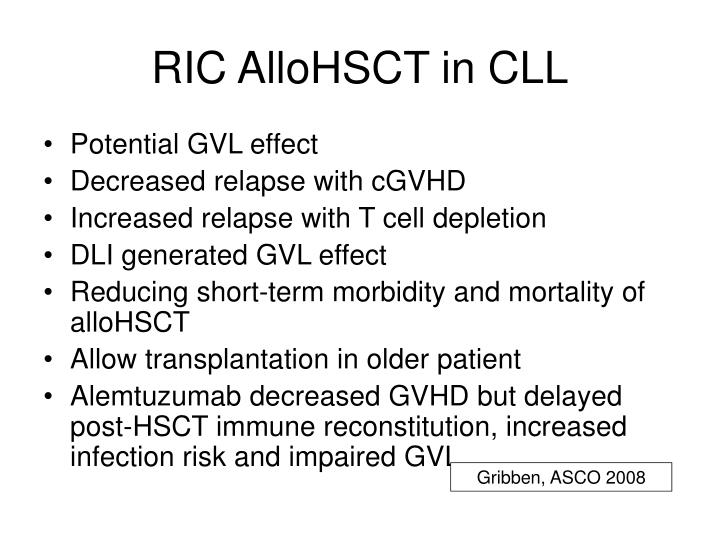 RIC AlloHSCT in CLL