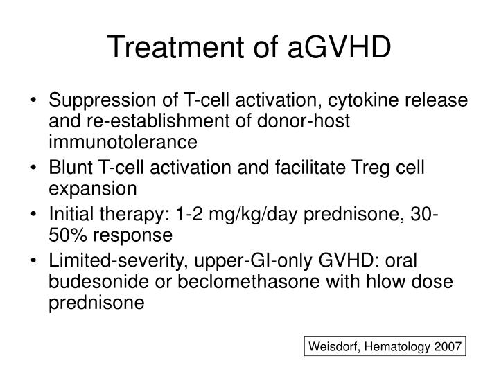 Treatment of aGVHD