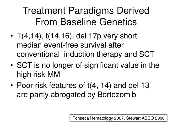 Treatment Paradigms Derived From Baseline Genetics