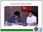acuerdo entre pc idea y pcgiap