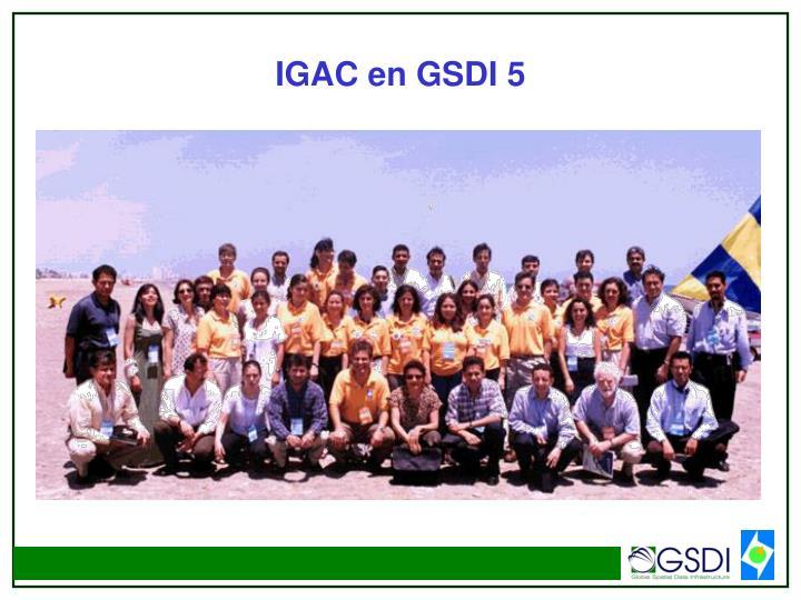 IGAC en GSDI 5