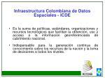 infraestructura colombiana de datos espaciales icde