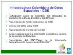 infraestructura colombiana de datos espaciales icde1