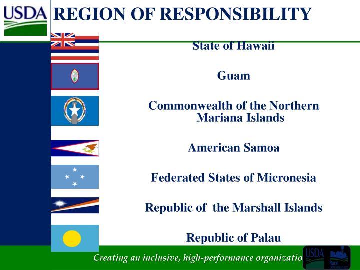 REGION OF RESPONSIBILITY
