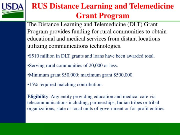 RUS Distance Learning and Telemedicine