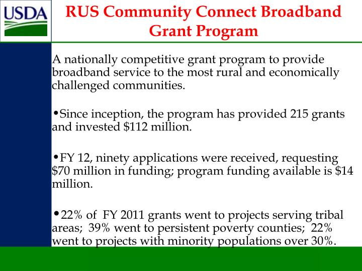 RUS Community Connect Broadband Grant Program