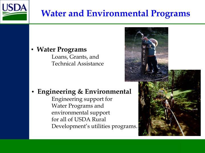 Water and Environmental Programs