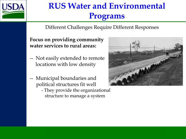 RUS Water and Environmental Programs