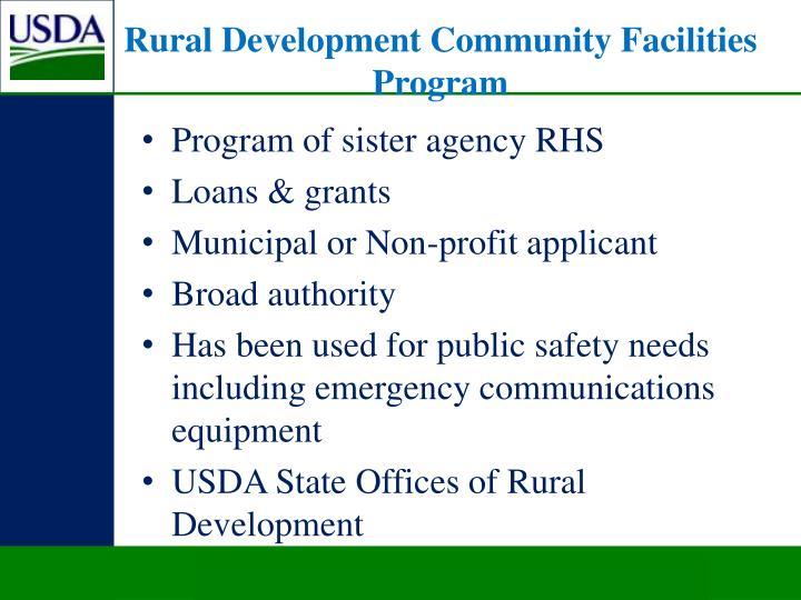 Rural Development Community Facilities Program