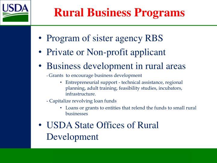 Rural Business Programs