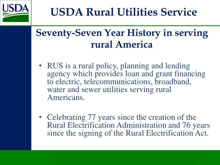 USDA Rural Utilities Service