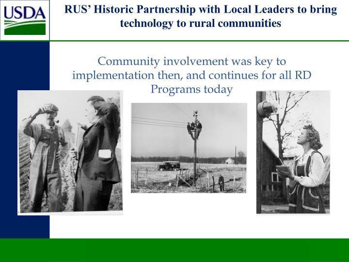 RUS' Historic Partnership with Local Leaders to bring technology to rural communities