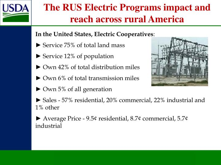 The RUS Electric Programs impact and reach across rural America