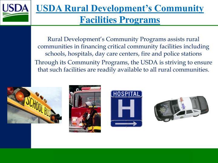 USDA Rural Development's Community Facilities Programs