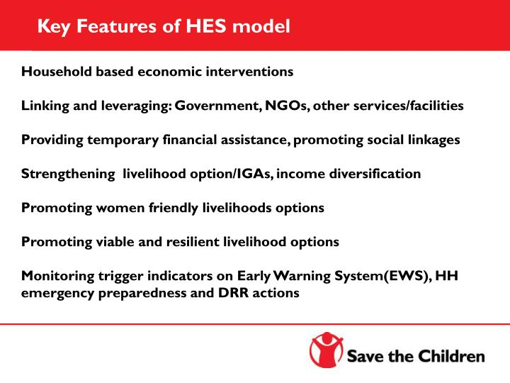 Key Features of HES model