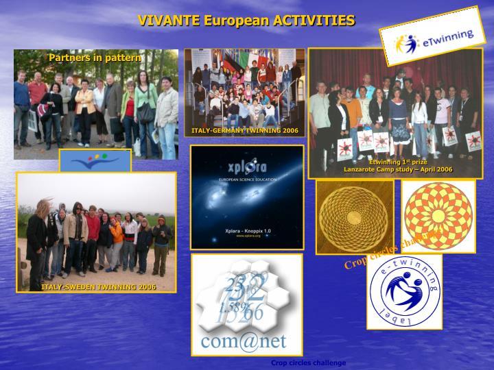 VIVANTE European ACTIVITIES