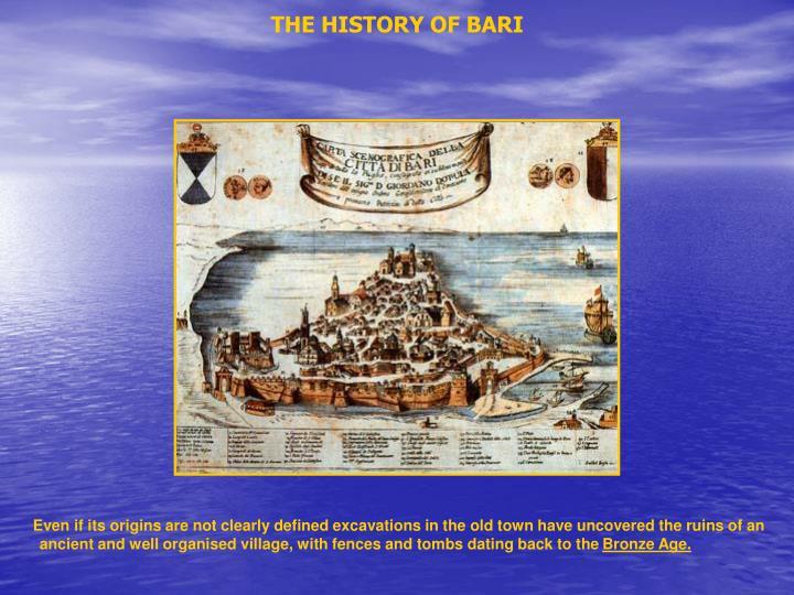 THE HISTORY OF BARI