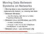 moving data between systems on networks