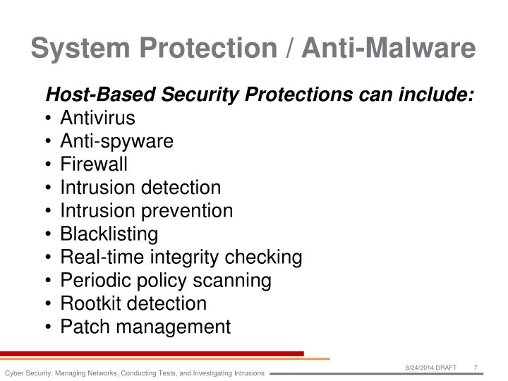 System Protection / Anti-Malware