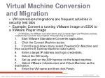virtual machine conversion and migration