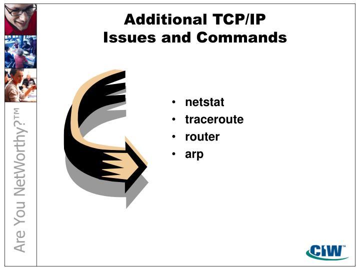Additional TCP/IP