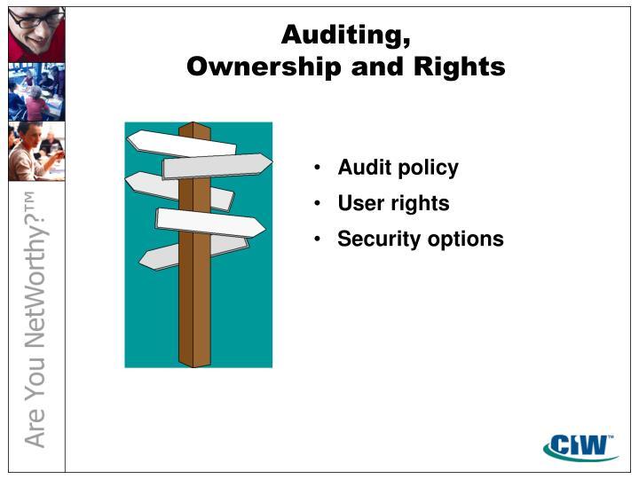 Auditing,