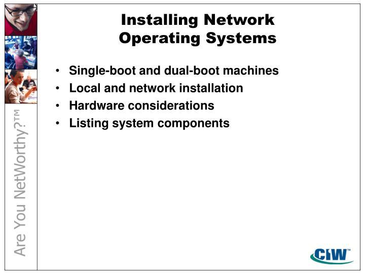 Installing Network