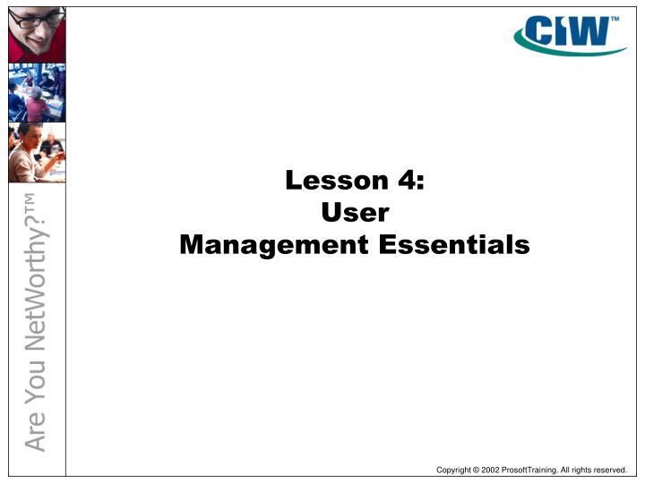 Lesson 4: