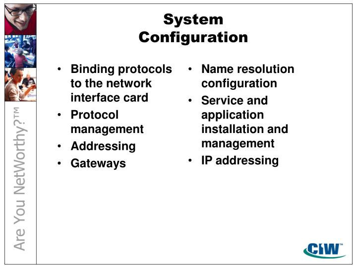 Binding protocols to the network interface card