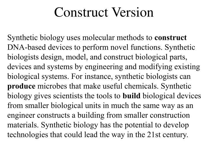 Construct Version