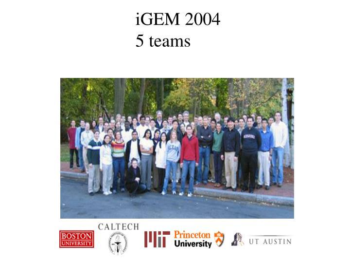 iGEM 2004