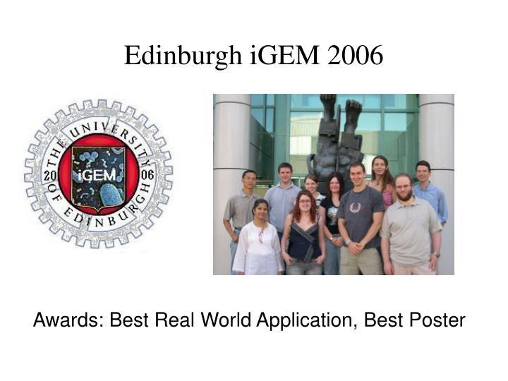 Edinburgh iGEM 2006