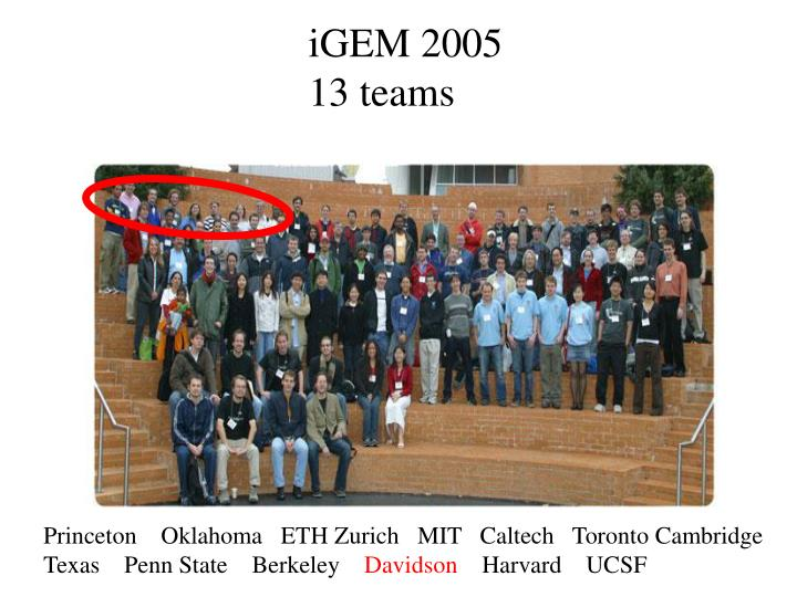 iGEM 2005